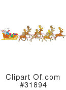 Royalty-Free (RF) Christmas Clipart Illustration #31894