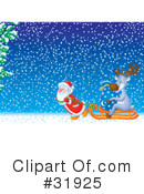 Royalty-Free (RF) Christmas Clipart Illustration #31925