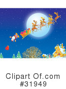 Royalty-Free (RF) Christmas Clipart Illustration #31949