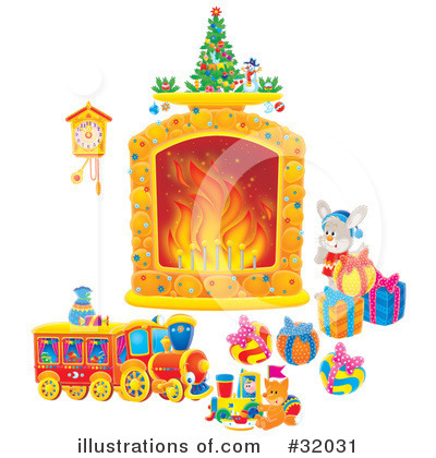 Fireplace Clipart #32031 by Alex Bannykh