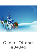 Royalty-Free (RF) Christmas Clipart Illustration #34349