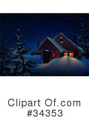 Royalty-Free (RF) Christmas Clipart Illustration #34353