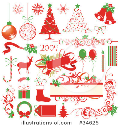 Royalty-Free (RF) Christmas Clipart Illustration by OnFocusMedia - Stock Sample #34625