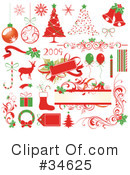 Royalty-Free (RF) Christmas Clipart Illustration #34625