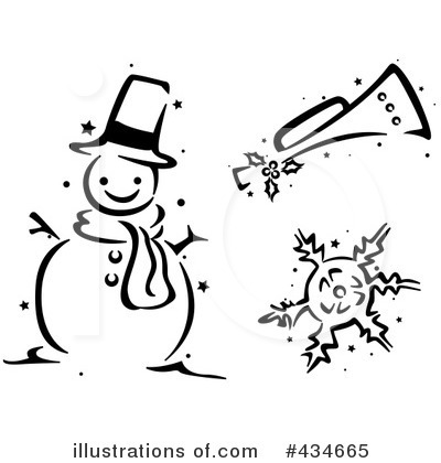 Snowflakes Clipart #434665 by BNP Design Studio