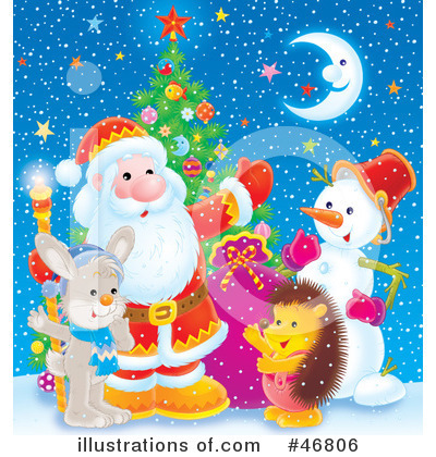 Snowman Clipart #46806 by Alex Bannykh