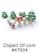 Royalty-Free (RF) Christmas Clipart Illustration #47004