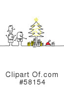 Royalty-Free (RF) Christmas Clipart Illustration #58154