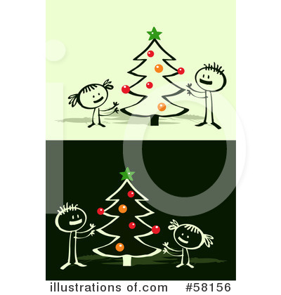 Royalty-Free (RF) Christmas Clipart Illustration by NL shop - Stock Sample #58156
