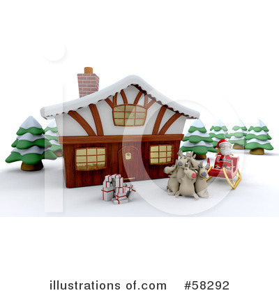 Royalty-Free (RF) Christmas Clipart Illustration by KJ Pargeter - Stock Sample #58292