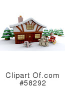 Royalty-Free (RF) Christmas Clipart Illustration #58292