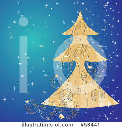 Christmas Tree Clipart #58441 by MilsiArt
