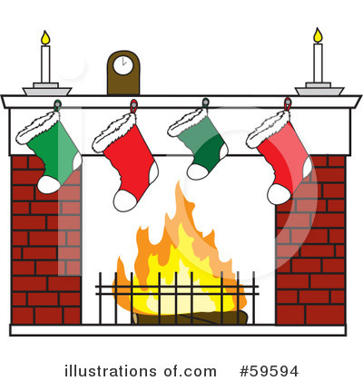 Fireplace Clipart #59594 by Rosie Piter