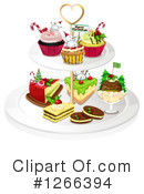 Royalty-Free (RF) Christmas Dessert Clipart Illustration #1266394