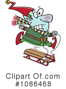 Christmas Elf Clipart #1086468 by toonaday