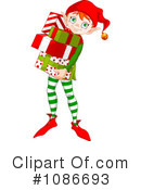 Royalty-Free (RF) Christmas Elf Clipart Illustration #1086693