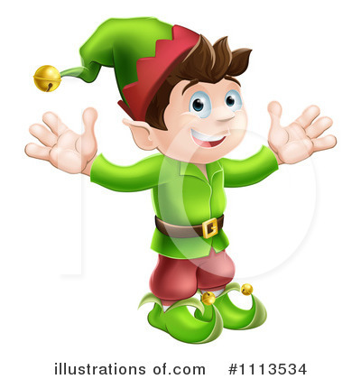 Christmas Elf Clipart #1113534 by AtStockIllustration