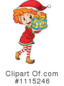 Royalty-Free (RF) Christmas Elf Clipart Illustration #1115246