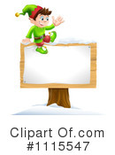 Royalty-Free (RF) Christmas Elf Clipart Illustration #1115547