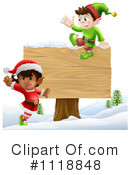 Royalty-Free (RF) Christmas Elf Clipart Illustration #1118848