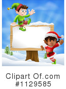 Royalty-Free (RF) Christmas Elf Clipart Illustration #1129585