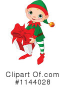 Royalty-Free (RF) Christmas Elf Clipart Illustration #1144028