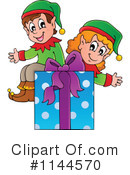 Royalty-Free (RF) Christmas Elf Clipart Illustration #1144570