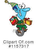 Christmas Elf Clipart #1157317 by toonaday
