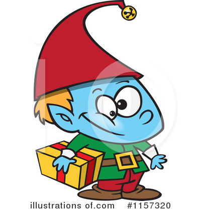 Christmas Elf Clipart #1157320 by toonaday
