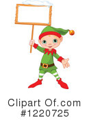 Royalty-Free (RF) Christmas Elf Clipart Illustration #1220725
