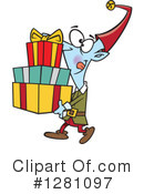 Christmas Elf Clipart #1281097 by toonaday