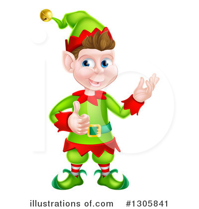 Christmas Elf Clipart #1305841 by AtStockIllustration