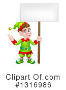 Royalty-Free (RF) Christmas Elf Clipart Illustration #1316986
