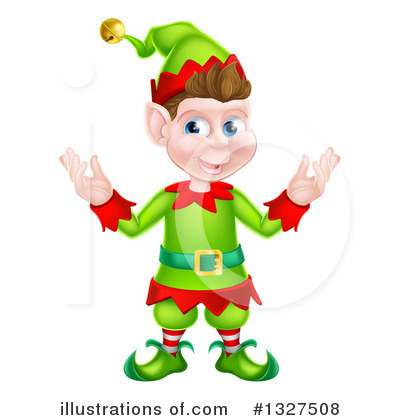 Christmas Elf Clipart #1327508 by AtStockIllustration