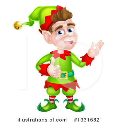 Christmas Elf Clipart #1331682 by AtStockIllustration