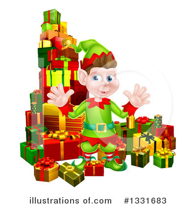 Christmas Elf Clipart #1331683 by AtStockIllustration