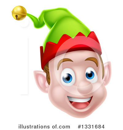 Christmas Elf Clipart #1331684 by AtStockIllustration