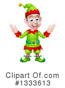 Royalty-Free (RF) Christmas Elf Clipart Illustration #1333613