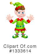 Royalty-Free (RF) Christmas Elf Clipart Illustration #1333614