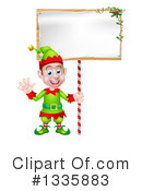 Royalty-Free (RF) Christmas Elf Clipart Illustration #1335883