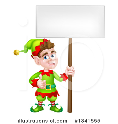Christmas Elf Clipart #1341555 by AtStockIllustration