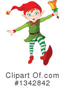 Royalty-Free (RF) Christmas Elf Clipart Illustration #1342842