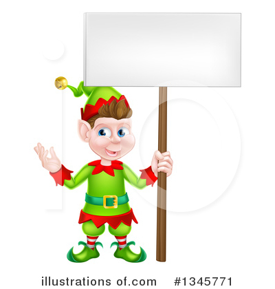 Christmas Elf Clipart #1345771 by AtStockIllustration