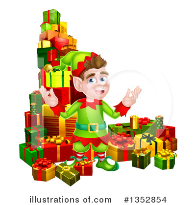 Christmas Elf Clipart #1352854 by AtStockIllustration
