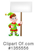 Royalty-Free (RF) Christmas Elf Clipart Illustration #1355556