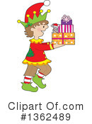 Christmas Elf Clipart #1362489 by Maria Bell