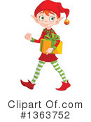 Royalty-Free (RF) Christmas Elf Clipart Illustration #1363752