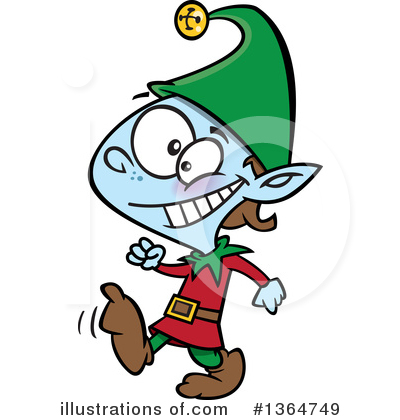 Christmas Elf Clipart #1364749 by toonaday
