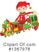 Royalty-Free (RF) Christmas Elf Clipart Illustration #1367978