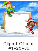 Christmas Elf Clipart #1423488 by AtStockIllustration